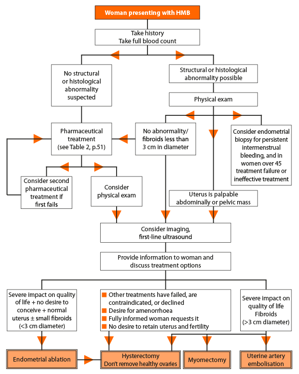 Care pathway for heavy menstrual bleeding